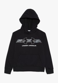 Under Armour - RIVAL HOODY - Hoodie - black /white - 0