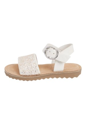 BLACK BUCKLE SANDALS (YOUNGER) - Sandály - white