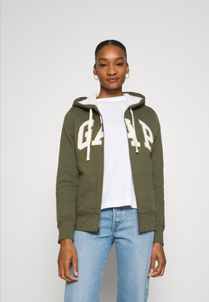 Zip-up hoodie - army green