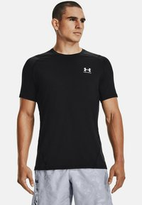 Under Armour - ARMOUR FITTED - Print T-shirt - black - 0