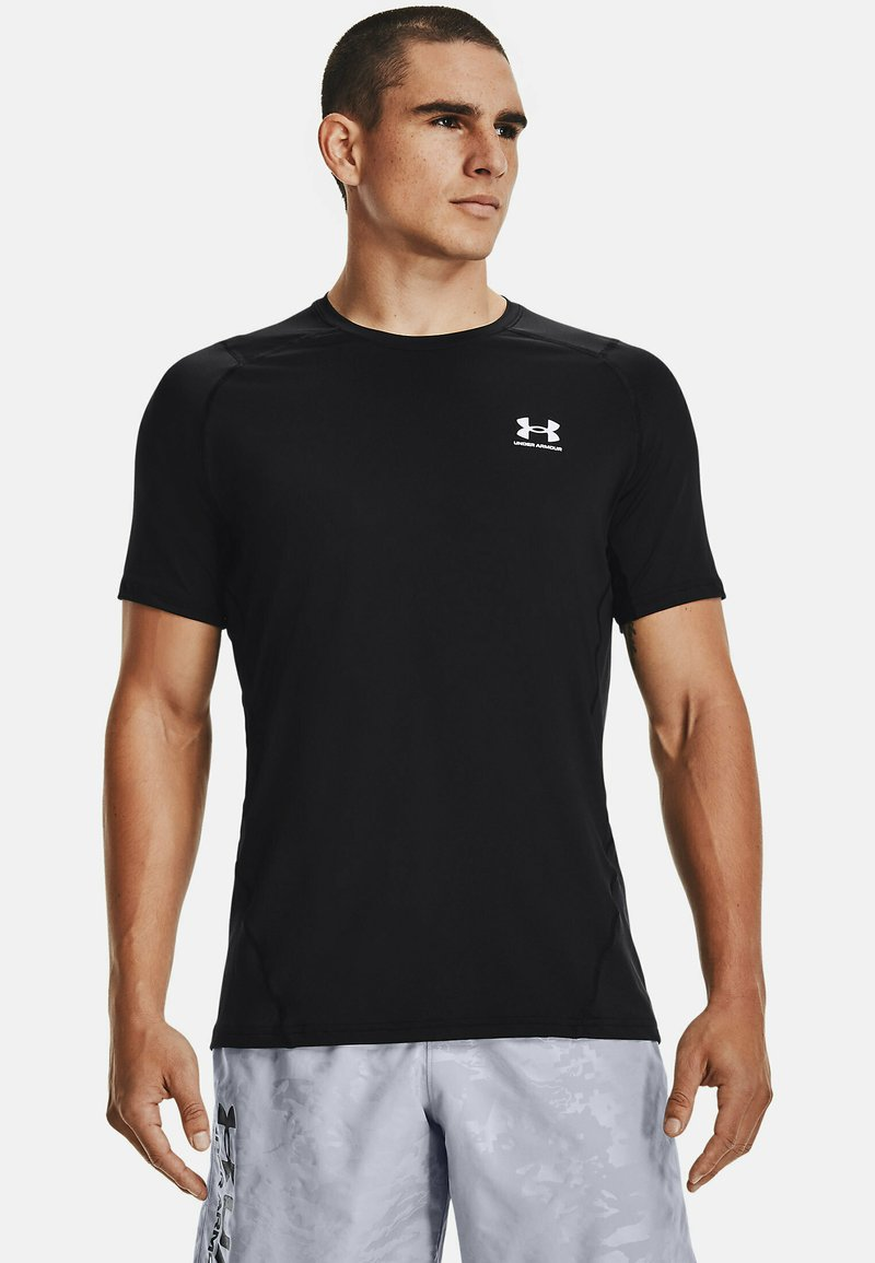 Under Armour - ARMOUR FITTED - Print T-shirt - black