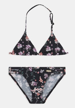 TRIANGLE DITSY SUN SET - Bikini - black