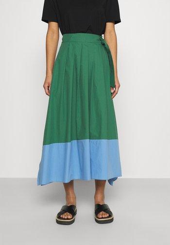 OBLARE - Pleated skirt - gruen
