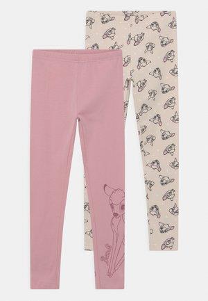 DISNEY BAMBI 2 PACK - Leggings - Trousers - light pink/beige