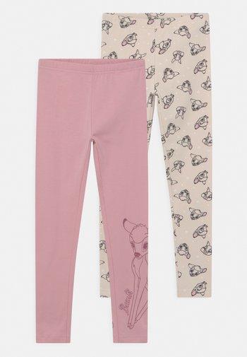 DISNEY BAMBI 2 PACK - Leggings - light pink/beige