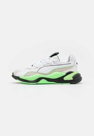 MESSAGING - Sneakers basse - white/elektro green
