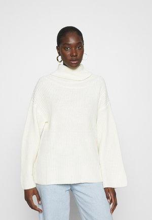 OVERSIZE TURTLENECK - Sweter - cream
