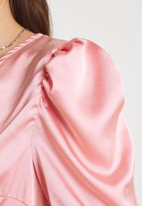 Missguided - HIGH LOW PUFF MIDI DRESS  - Maxi dress - blush - 4