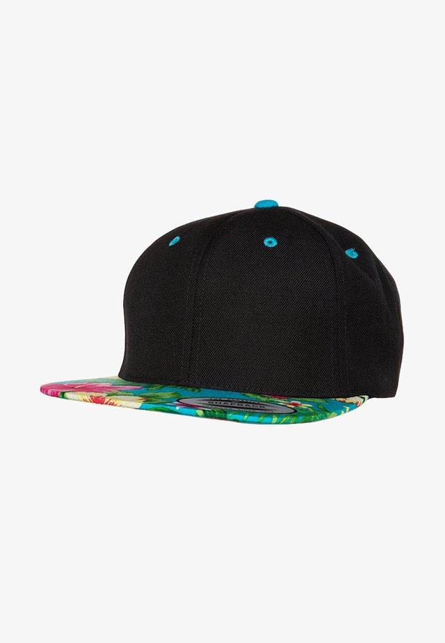 HAWAIIAN SNAPBACK - Cappellino - black/aqua