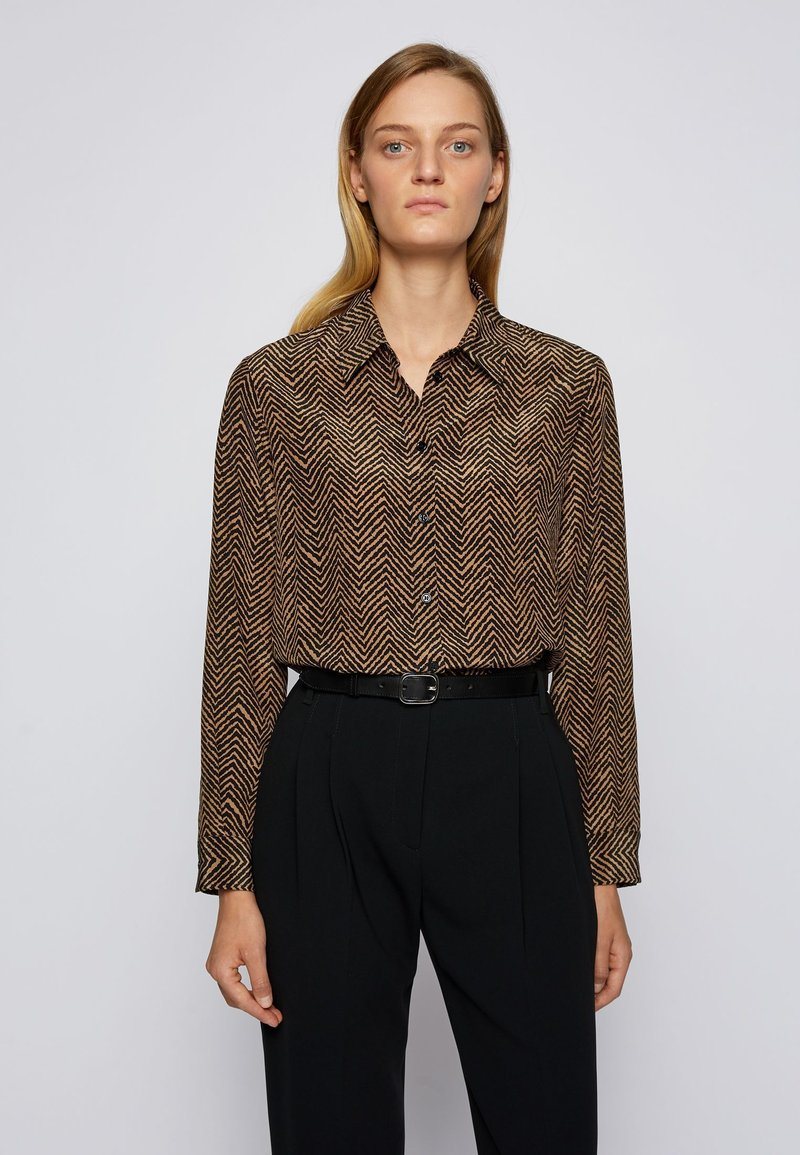 BOSS - Button-down blouse - patterned