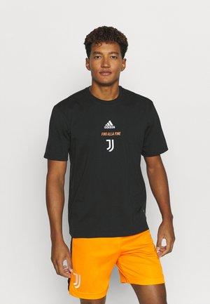 JUVENTUS SPORTS FOOTBALL SHORT SLEEVE - Klubové oblečení - black/white