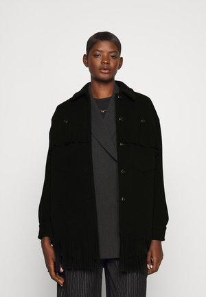 FIAMBALA CAMICIA - Short coat - black