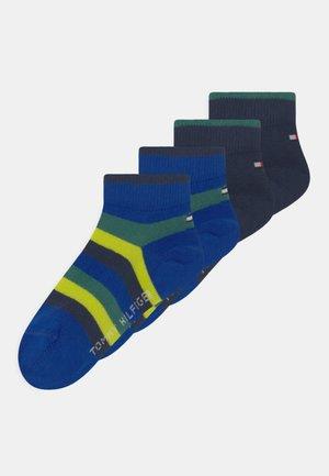 BASIC STRIPE QUARTER 4 PACK UNISEX - Socks - blue