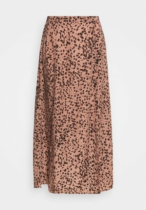 SPLIT SIDE MIDAXI SKIRT LEOPARD - A-line skirt - blush