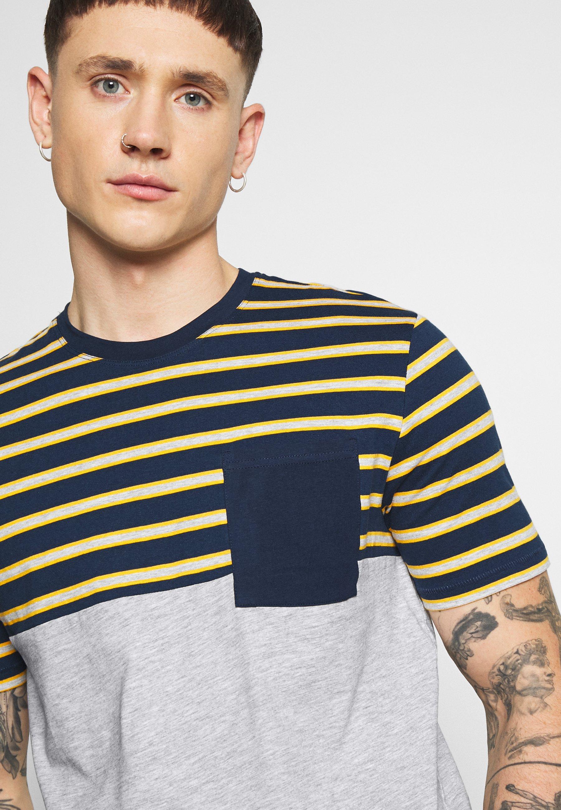 Only & Sons Onsmet Life Block Tee - Camiseta Estampada Light Grey Melange
