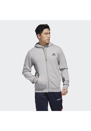 ESSENTIALS TRAINING SPORTS HOODED JACKET - Huvtröja med dragkedja - medium grey heather/legend ink