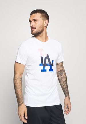 MLB LOS ANGELES DODGERS CAMO INFILL TEE - Print T-shirt - white