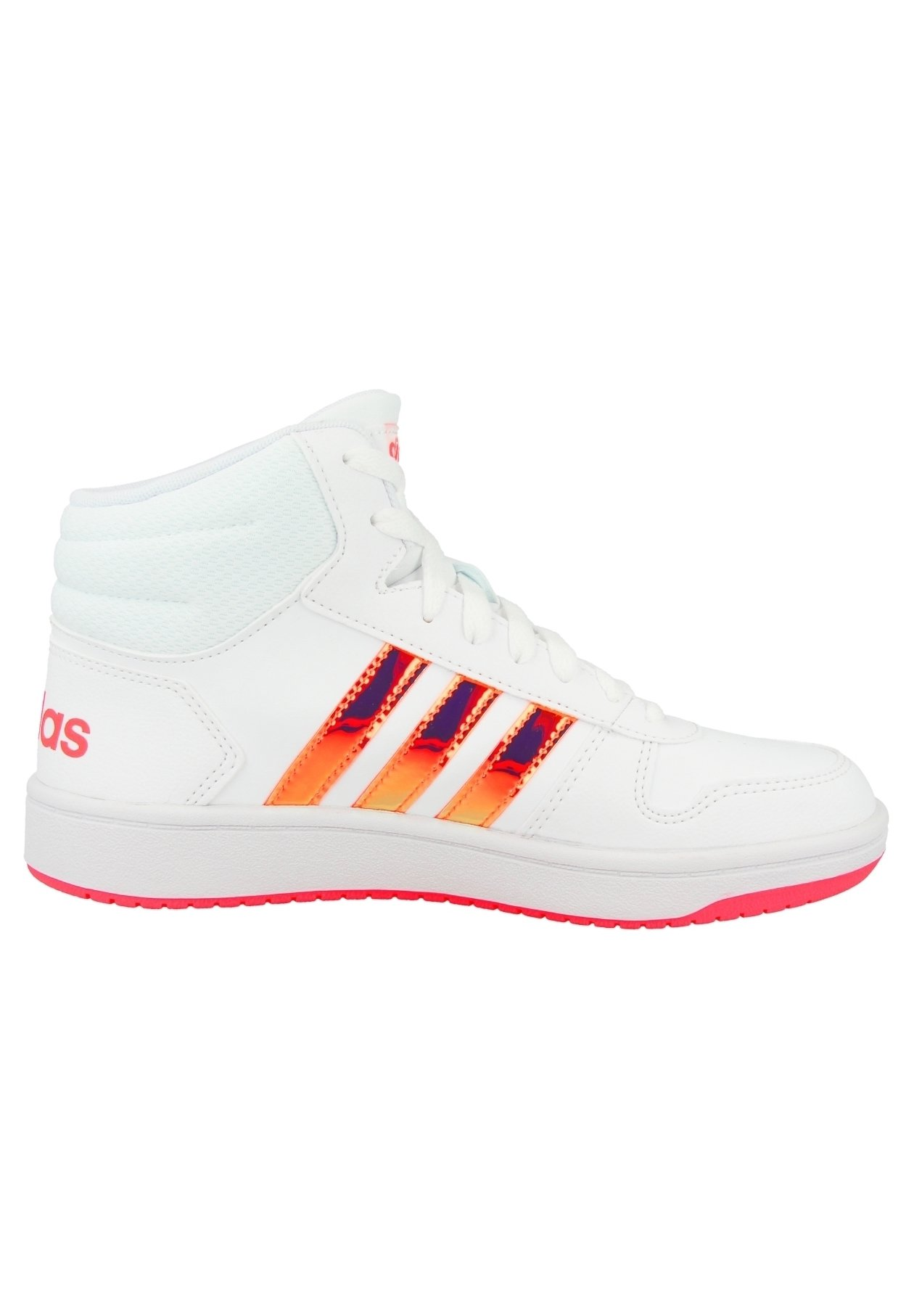 adidas Originals HOOPS MID 2.0 K - Baskets basses - white-pink ...