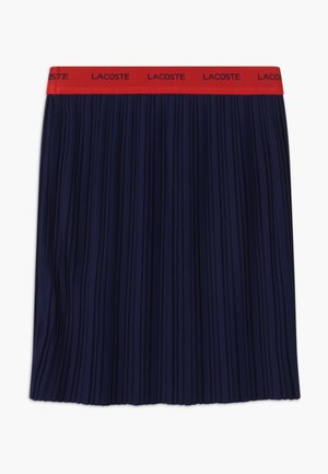 Falda plisada - marine/rouge