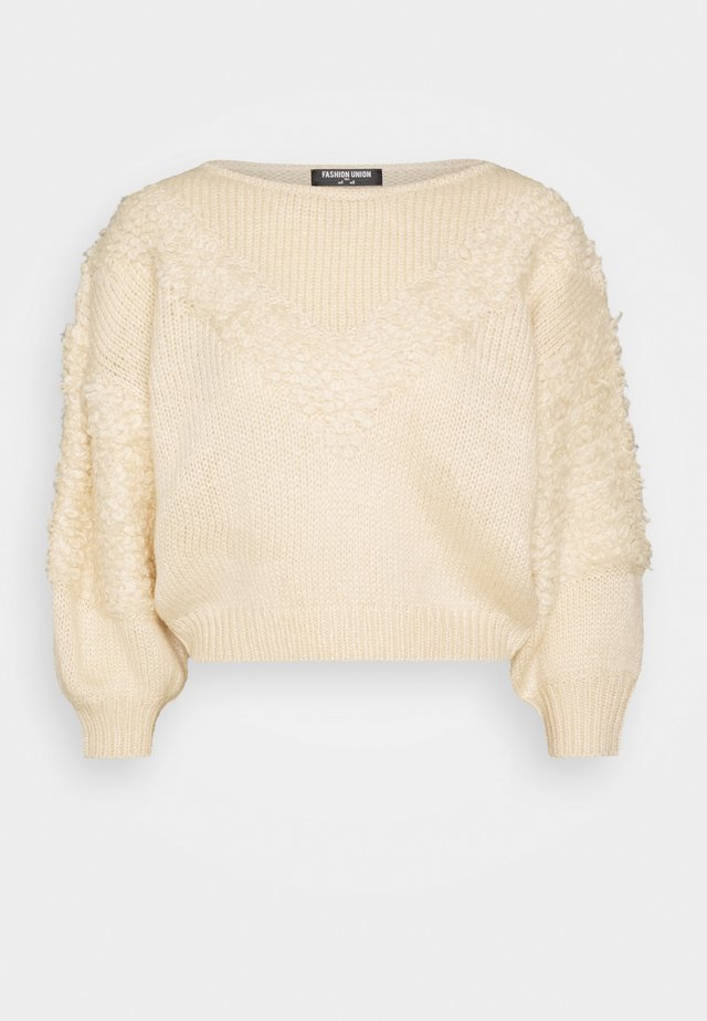 LOOPY - Strikpullover /Striktrøjer - cream