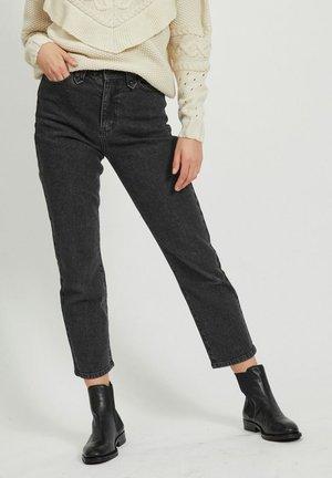 STRAIGHT FIT - Straight leg jeans - dark grey denim