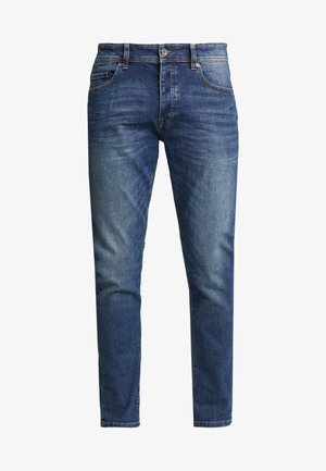SLIM ROLLED UP - Slim fit jeans - dark blue demin