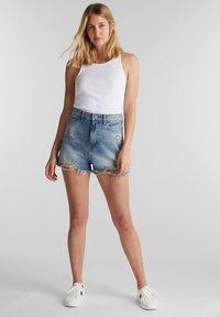 edc by Esprit - FESTIVAL  - Denim shorts - blue medium washed - 1