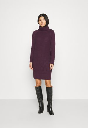 COWL NECK - Jumper dress - aubergine