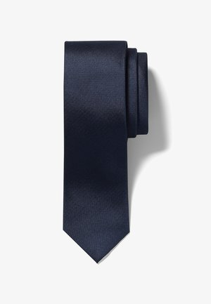 SLIM TEXTURED - Tie - midnight