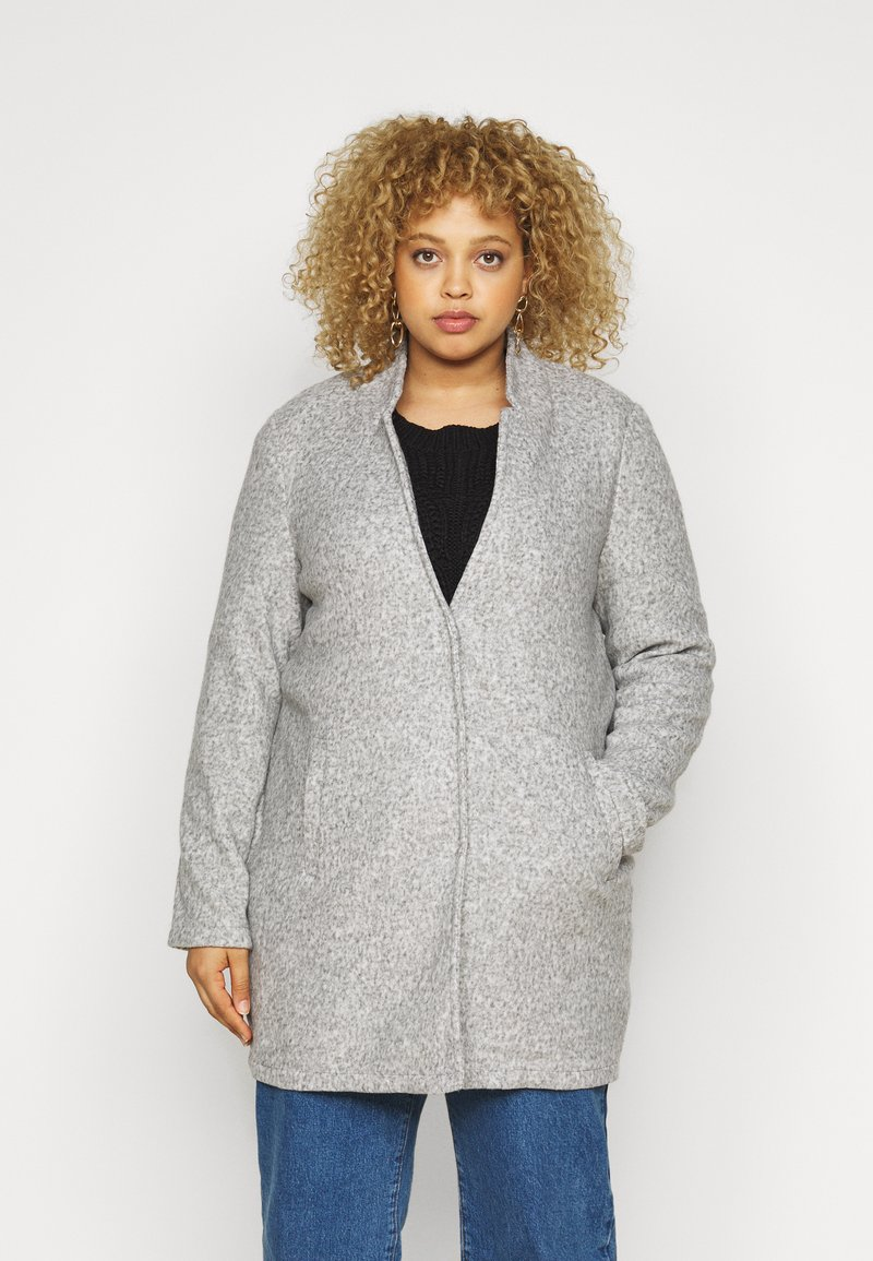 Vero Moda Curve - VMKATRINE - Korte frakker - light grey melange