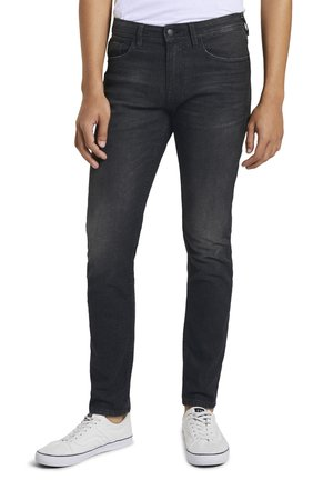 PIERS  - Jean slim - dark stone black denim