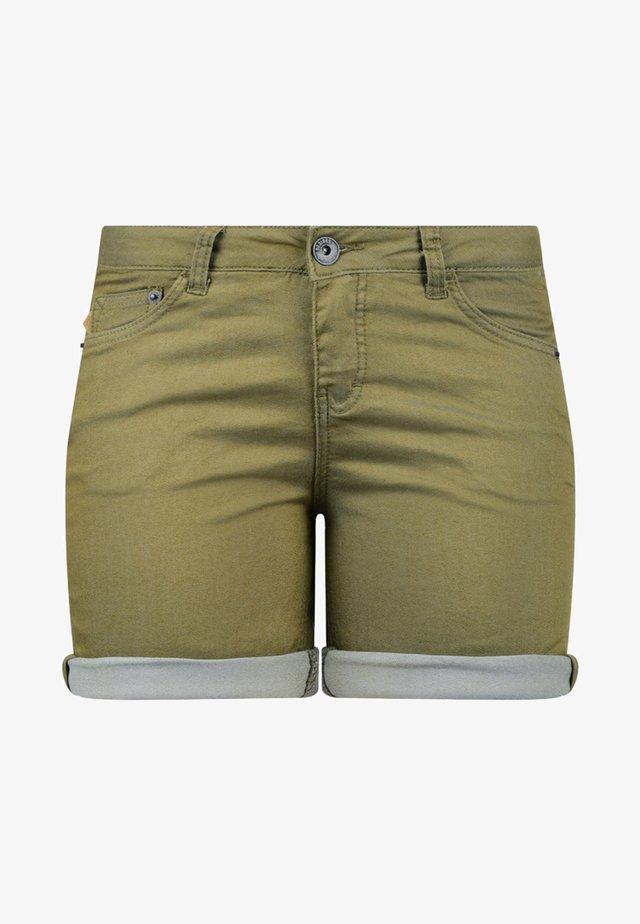 JEANSSHORTS LILA - Denim shorts - light green