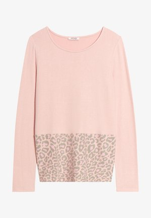 Langarmshirt - pink meliert