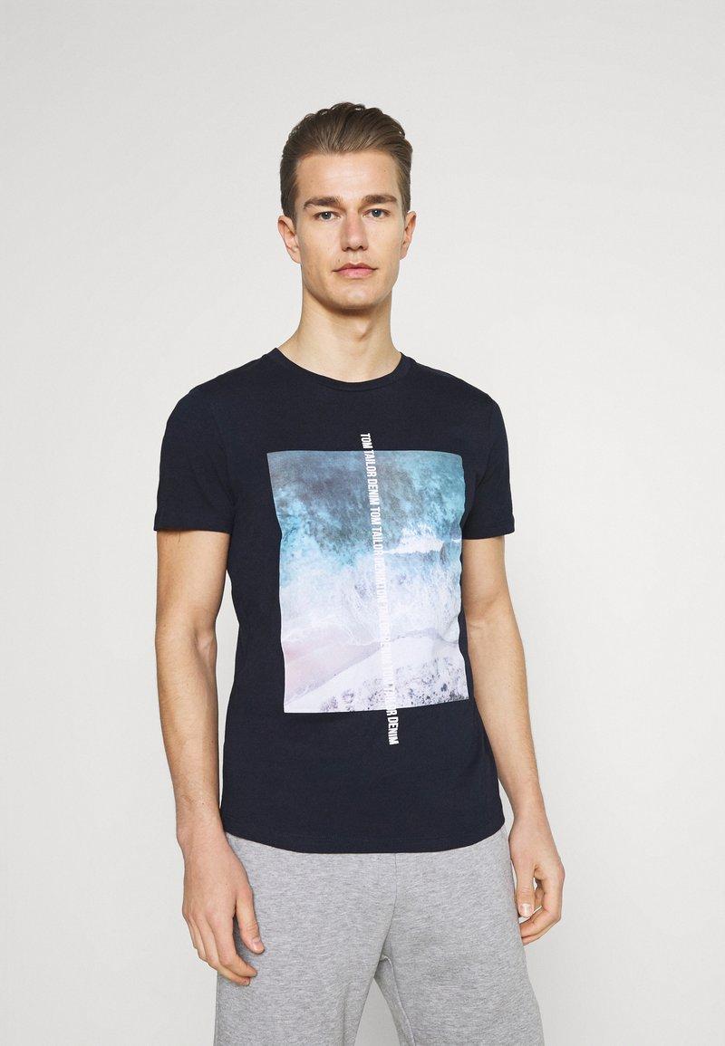 TOM TAILOR DENIM - Print T-shirt - sky captain blue