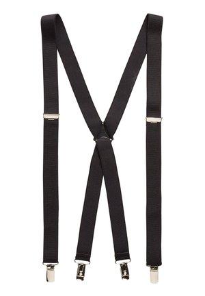 BLACK THIN BRACES - Belt - black