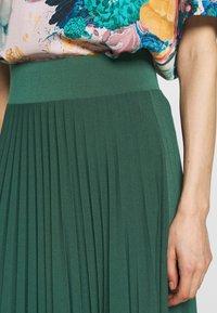 Anna Field - Plisse A-line midi skirt - Áčková sukně - teal - 5
