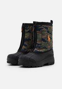 Polo Ralph Lauren - QUILO ZIP UNISEX - Winter boots - olive/orange - 1