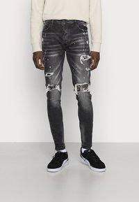Alessandro Zavetti - DAMIANO - Jeans slim fit - black wash - 0