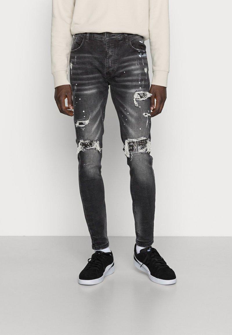 Alessandro Zavetti - DAMIANO - Jeans slim fit - black wash