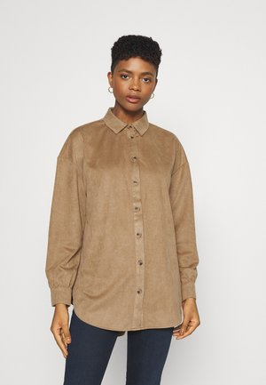 VISUDA OVERSIZE  - Button-down blouse - tigers eye