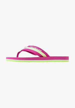 Sandály s odděleným palcem - pink/white/lime