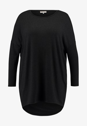 CARCARMA LONG - Long sleeved top - black/melange