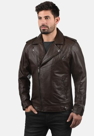 MAMASH - Leather jacket - brown