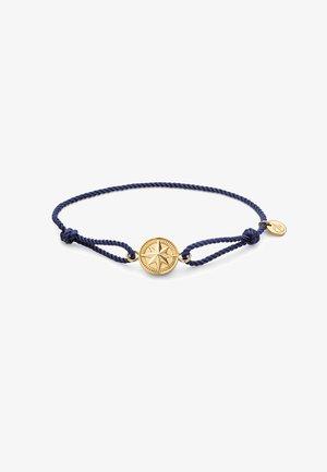 Armband - marineblau/gold