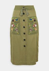 Desigual - FAL BYRON - A-line skirt - kaki - 3