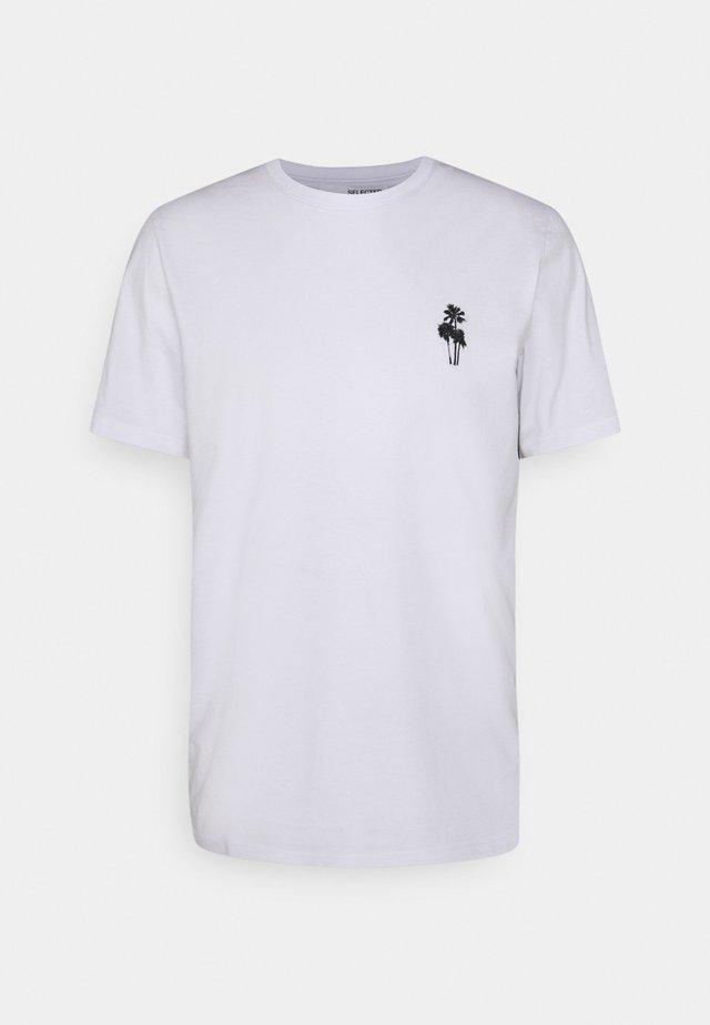 SLHHOLIDAY O NECK TEE - T-shirt basic - bright white