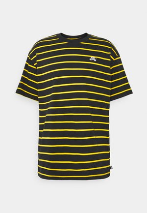STRIP TEE UNISEX - Print T-shirt - black/university gold