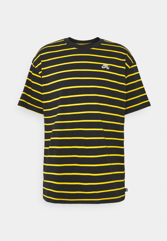 STRIP TEE UNISEX - T-shirt print - black/university gold