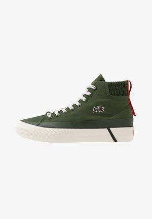 GRIPSHOT MILIEU - Sneakers hoog - dark khaki/red