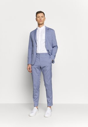 MINI STRIPE FLEX SLIM FIT SUIT - Oblek - blue
